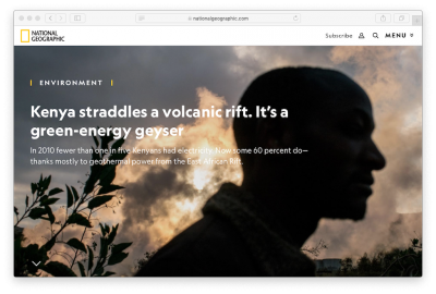 National Geographic: Volcanic rift as the green energy geyser for Kenya
