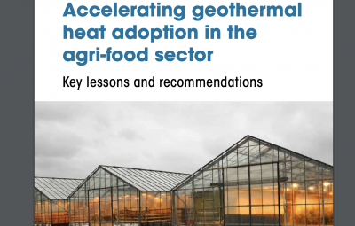 Key lessons for accelerating geothermal heat adoption in the agri-food sector