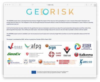 Input needed – GEORISK Survey of Geothermal risk assessment