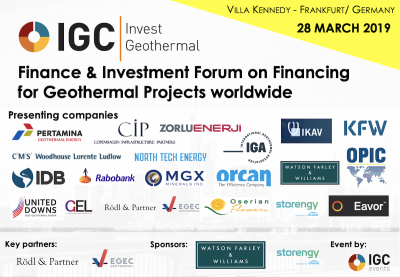 Final program released for IGC Invest Geothermal – 28 March 2019