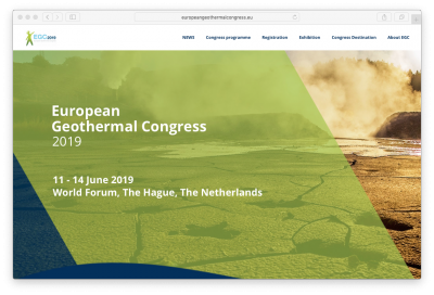 10 days until the European Geothermal Congress 2019, The Hague/ Netherlands