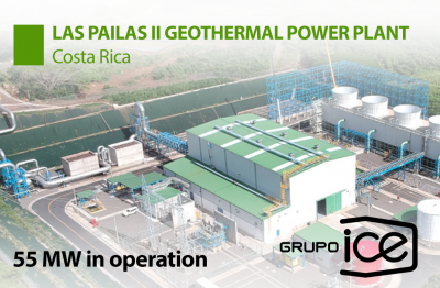 55 MW Las Pailas II geothermal power plant officially inaugurated in Costa Rica
