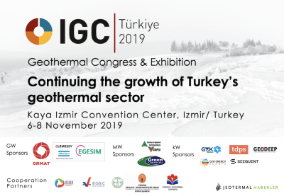4th IGC Turkey Geothermal Congress & Expo – 6-8 November 2019, Izmir/ Turkey