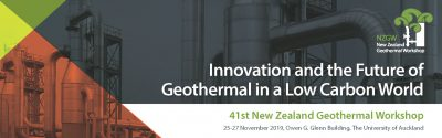 41st New Zealand Geothermal Workshop Draft Programme now available