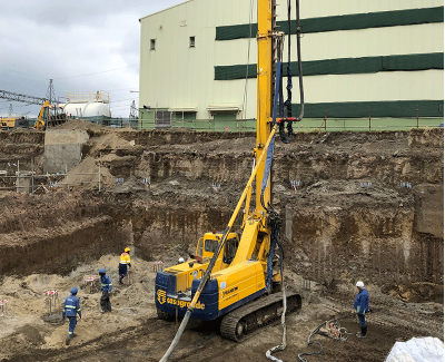 Foundations being laid for planned Olkaria I Unit 6 geothermal plant in Kenya