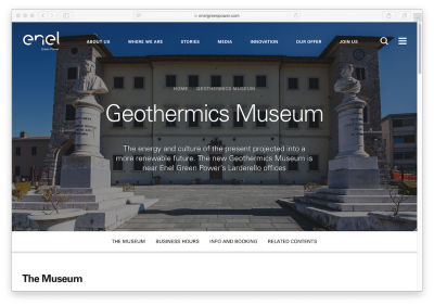 Enel launches new multi-lingual website for geothermal museum at Larderello, Italy