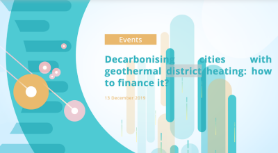 Workshop: Decarbonising cities with geothermal district heating, Brussels 13 Dec. '19