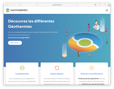 New geothermal energy information website platform launched in France