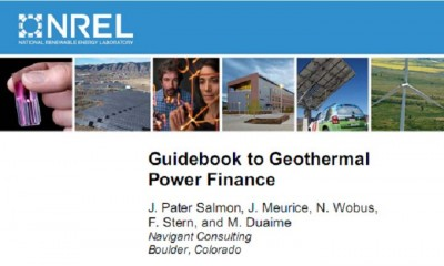 Useful guidebook to geothermal power finance by NREL/ Navigant
