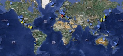 Global Geothermal Power Plant Map – additions provided by Enel Green Power