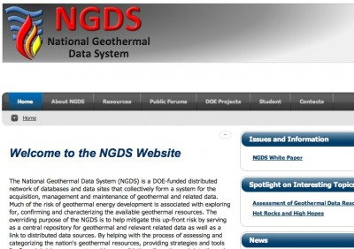 Some note on the U.S. National Geothermal Data System Project