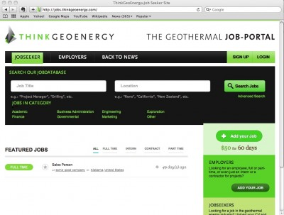 ThinkGeoEnergy launches Geothermal Job Portal