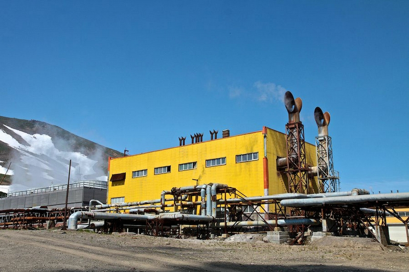 Pictures of the Mutnovsky geothermal power plant in Russia
