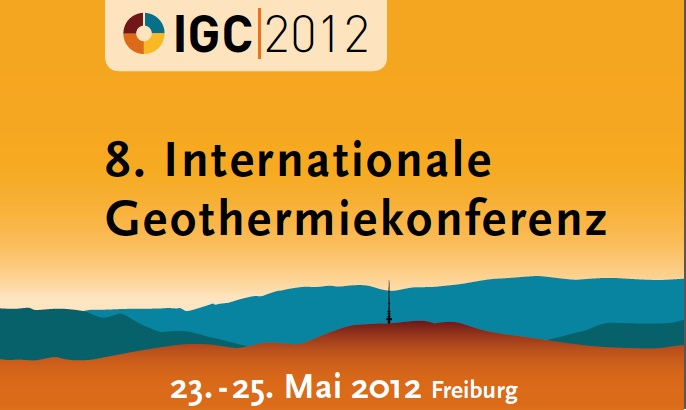 8th International Geothermal Conference, Freiburg/ Germany, May 23-25, 2012