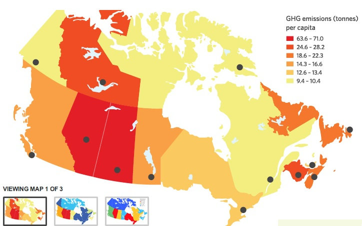 Canada Geothermal Map Report Canadian climate change plans all over the map | Think