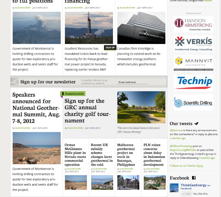 ThinkGeoEnergy Website up again after temporary down-time