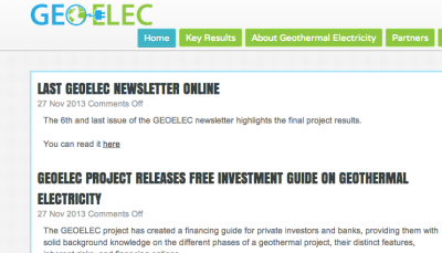GEOELEC creates a guide on financing Geothermal projects Europe