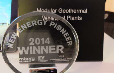 Green Energy Group selected as 2014 New Energy Pioneer by Bloomberg