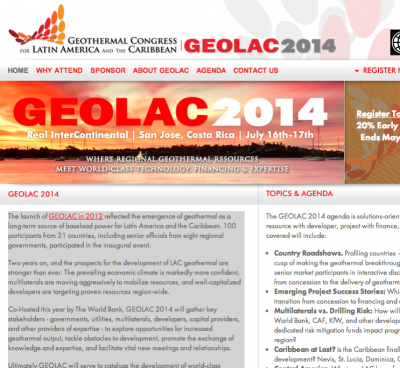 11 governments confirmed for GEOLAC in Costa Rica, July 16-17, 2014