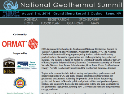 GEA officially announces 4th Annual Summit in Reno, US