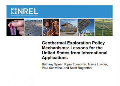 NREL publishes report on advancing geothermal exploration