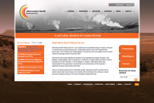 Alternative Earth Resources Inc Website - Frontpage