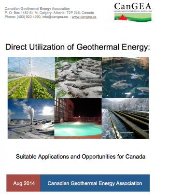 CanGEA releases report on direct use of geothermal energy