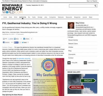 REW on why geothermal tactics need to change in the U.S.