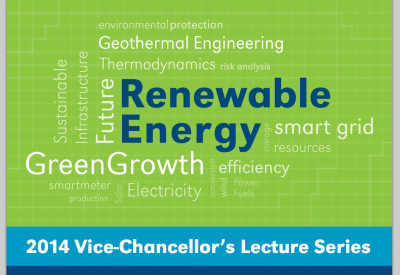 University of Auckland public lecture series on smart ideas in green technologies