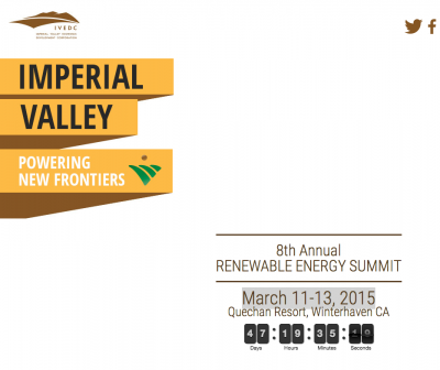 Imperial Valley Renewable Energy Summit, March 11-13, 2015