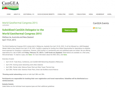 CanGEA offers delegate subsidies for WGC2015