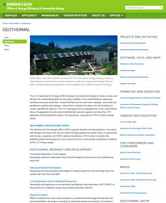 U.S. DOE RFI on risk and uncertainty management in geothermal exploration