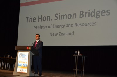 Speech by NZ Minister of Energy at Opening Session of the WGC2015