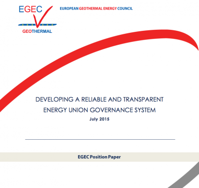 EGEC paper with concrete proposals for Energy Union governance system