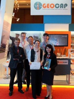 GEOCAP winner of the best content booth at IIGCE 2015 in Indonesia
