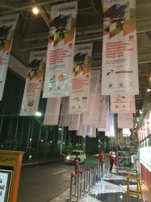 Pictures from the Indonesian Intl. Geothermal Convention & Expo pre-opening
