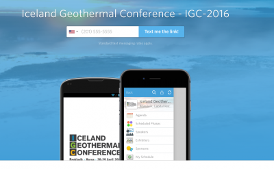 Iceland Geothermal Conference, April 2016 releases event app