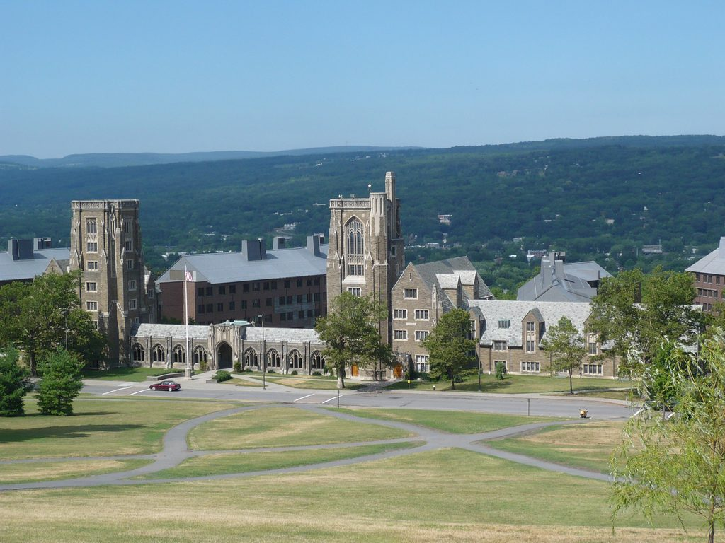 Drilling to determine potential for geothermal heating at Cornell University, New York