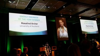 U of Auckland's Rosalind Archer wins Energy Engineer of the Year Award in NZ