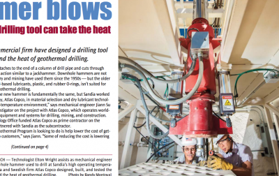 New tool to allow downhole hammer drilling for high-heat geothermal conditions