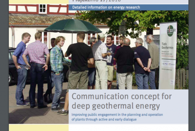Communication concept for geothermal project developers in Germany