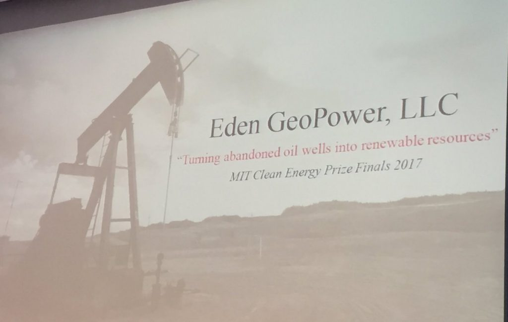 Geothermal from abandoned oil wells – initiative finalist in 2017 MIT Clean Energy Prize