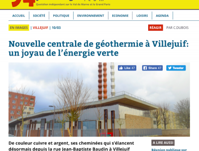 New geothermal heating plant started operation in Paris, France