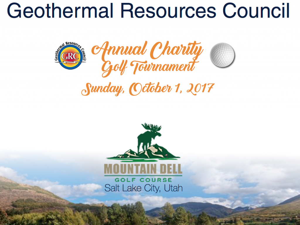 Geothermal Resource Council annual meeting and charity golf tournament