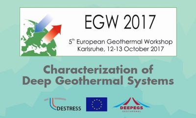 Abstract call – 5th European Geothermal Workshop, Karlsruhe/ Germany, Oct 12-13, 2017