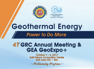 33 days to the GRC Annual Meeting & GEA GeoExpo+, Salt Lake City, Utah