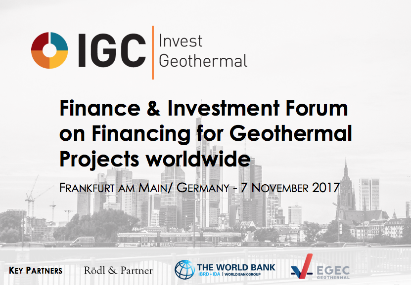 IGC Invest highlights financing of early stage geothermal development