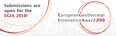 Nominations for European Geothermal Innovation Award 2018 due Jan. 10, 2018