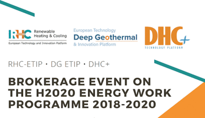 Geothermal topic at Brokerage event on H2020 Energy Work, 16 Nov. 2017