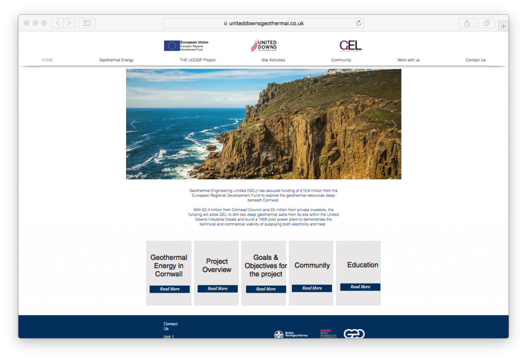 United Downs DEEP geothermal project launches informative new website